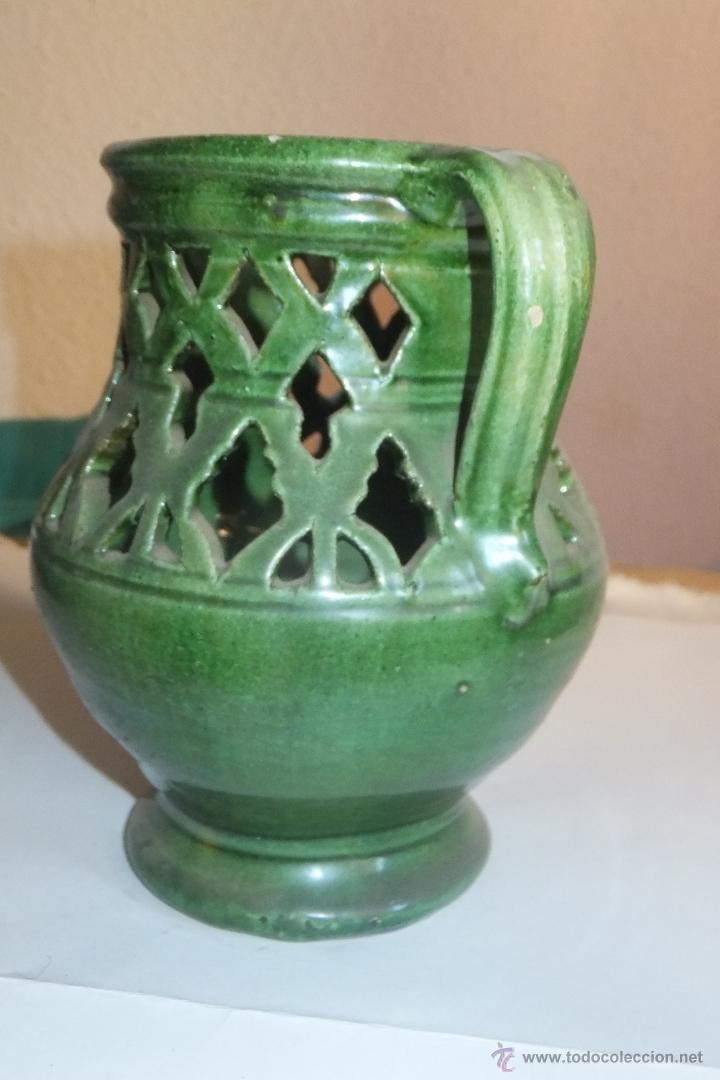 Antigüedades: Jarra Incensario alfareria popular Ubeda ( Jaén ) - Foto 3 - 47756499