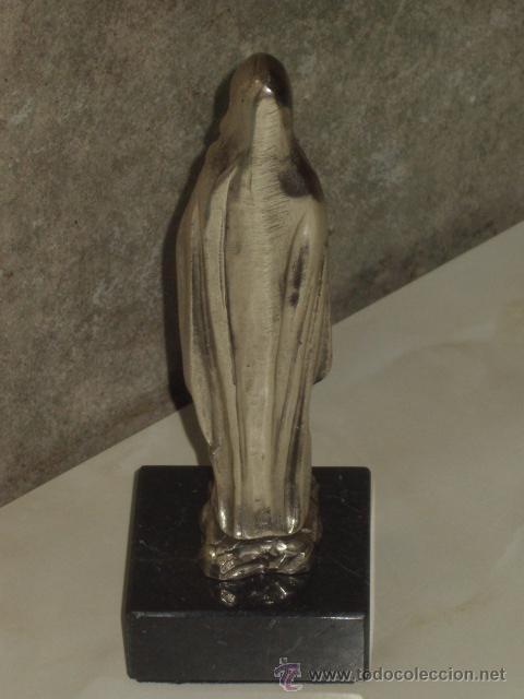 Antigüedades: VIRGEN SOBRE PEANA DE MARMOL NEGRO. - Foto 6 - 47758459
