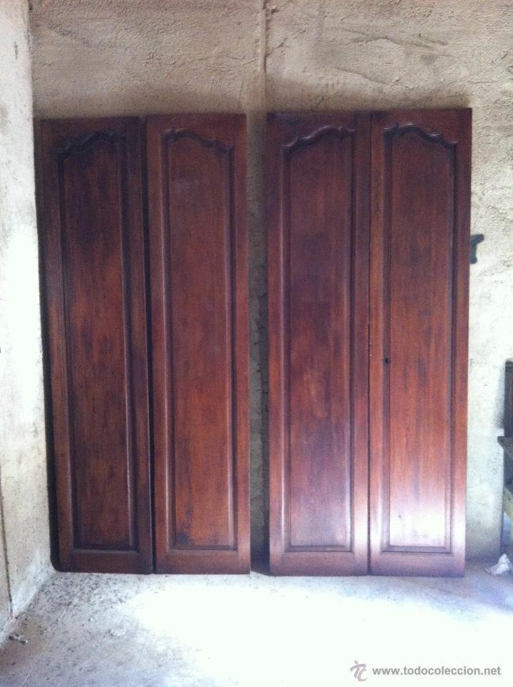 Dos puertas de doble hoja antiguas de interior comprar for Puertas antiguas de interior