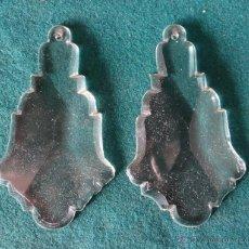 Antigüedades: LAGRIMAS COLGANTES DE CRISTAL ANTIGUAS PARA LAMPARA. LOTE DOS UNIDADES. 10 CM.. Lote 47785329