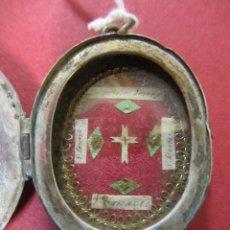 Antigüedades: ANTIGUO RELICARIO DE PLATA. Lote 47786078