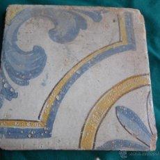 Antigüedades: MUY ANTIGUA BALDOSA TAMAÑO GRANDE SIGLO XVII. Lote 47786142