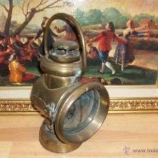 Antigüedades: ANTIGUO FAROL DE BRONCE -BIRMINGHAM. Lote 47816594