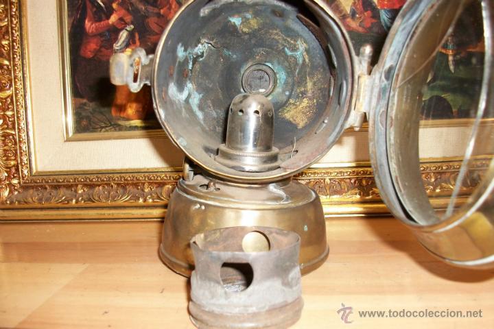 Antigüedades: ANTIGUO FAROL DE BRONCE -BIRMINGHAM - Foto 2 - 47816594