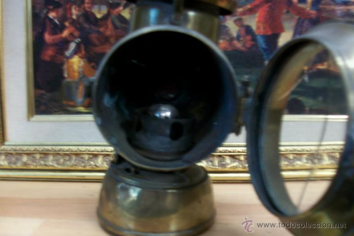 Antigüedades: ANTIGUO FAROL DE BRONCE -BIRMINGHAM - Foto 3 - 47816594