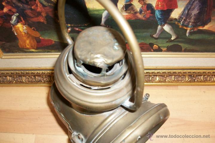 Antigüedades: ANTIGUO FAROL DE BRONCE -BIRMINGHAM - Foto 7 - 47816594