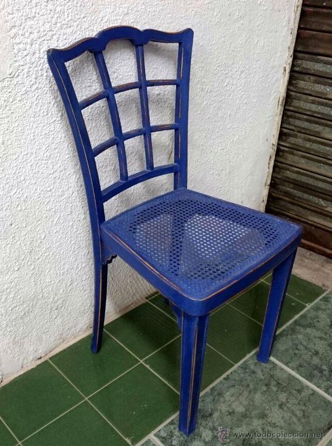 Antigua silla de madera y asiento de rejilla he vendido for Sillas madera segunda mano