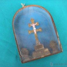 Antigüedades: ANTIGUA URNA CON CRUZ DE CARAVACA. Lote 47830765