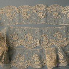 Antigüedades: ANTIGUO ENCAJE DE BRUSELAS. Lote 163552676