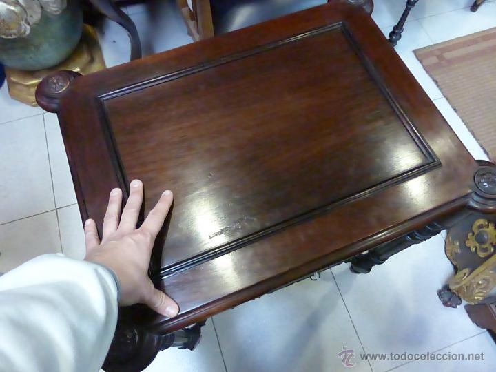 Antigüedades: ANTIGUO COSTURERO PALACIEGO FRANCES ORIGINAL DEL S. XIX - MADERA DE PALOSANTO CON MAGNIFICA FACTURA- - Foto 16 - 47839547