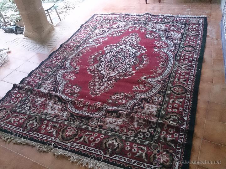 Antigüedades: alfombra grande leer - Foto 2 - 47850261