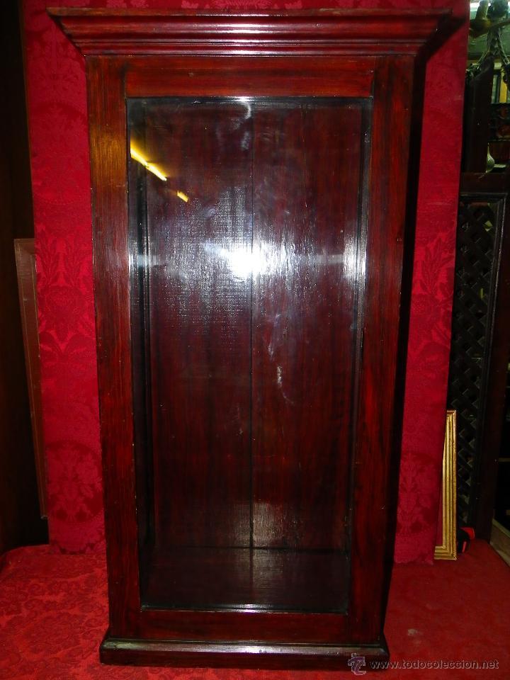 Antigüedades: Vitrina antigua en madera siglo XIX - Foto 2 - 109242926