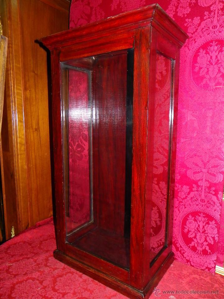 Antigüedades: Vitrina antigua en madera siglo XIX - Foto 4 - 109242926