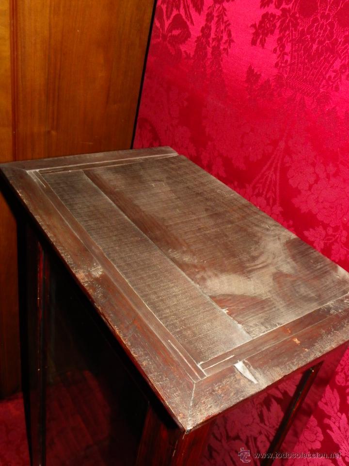 Antigüedades: Vitrina antigua en madera siglo XIX - Foto 7 - 109242926
