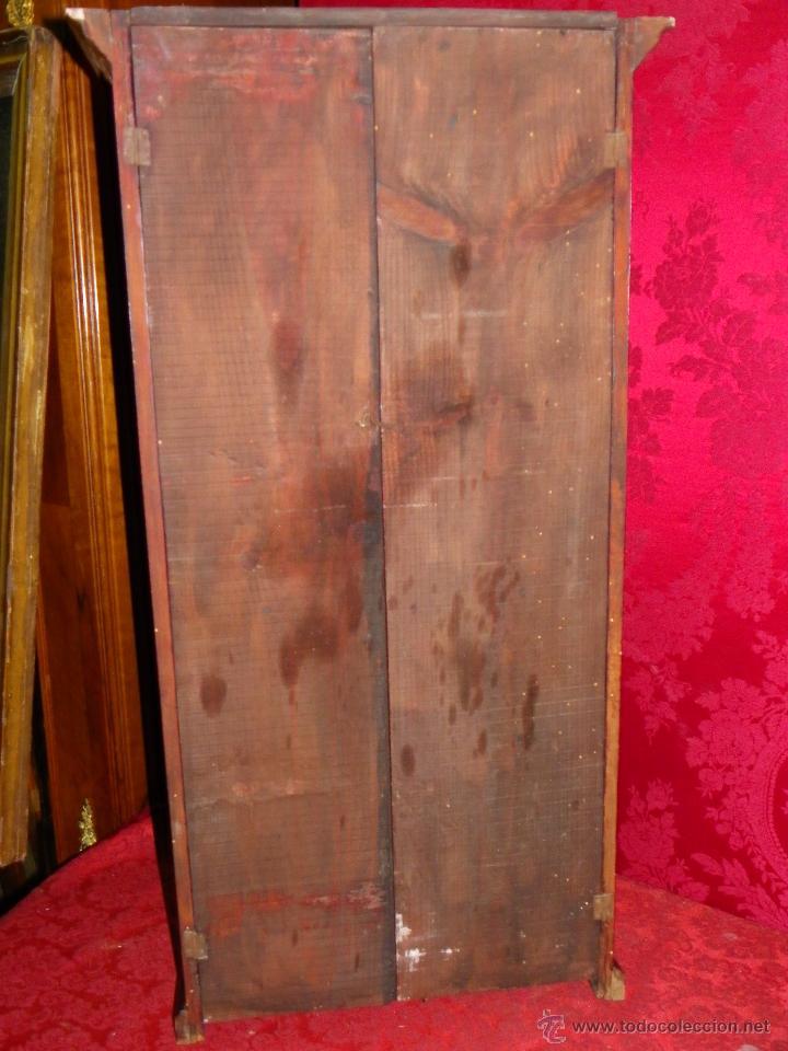 Antigüedades: Vitrina antigua en madera siglo XIX - Foto 8 - 109242926
