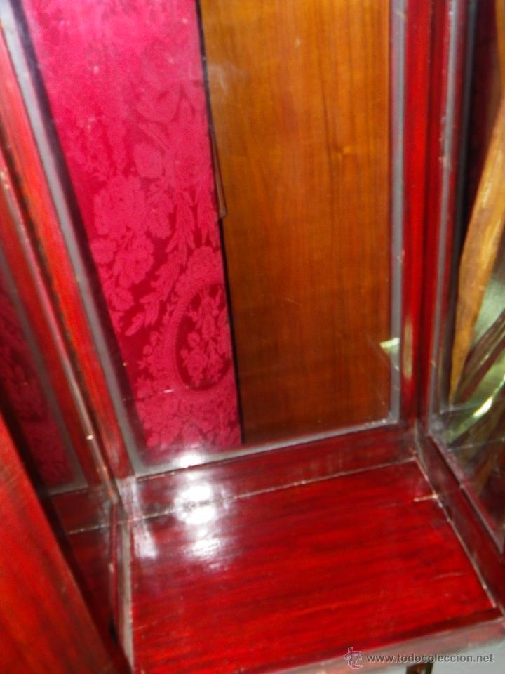 Antigüedades: Vitrina antigua en madera siglo XIX - Foto 11 - 109242926