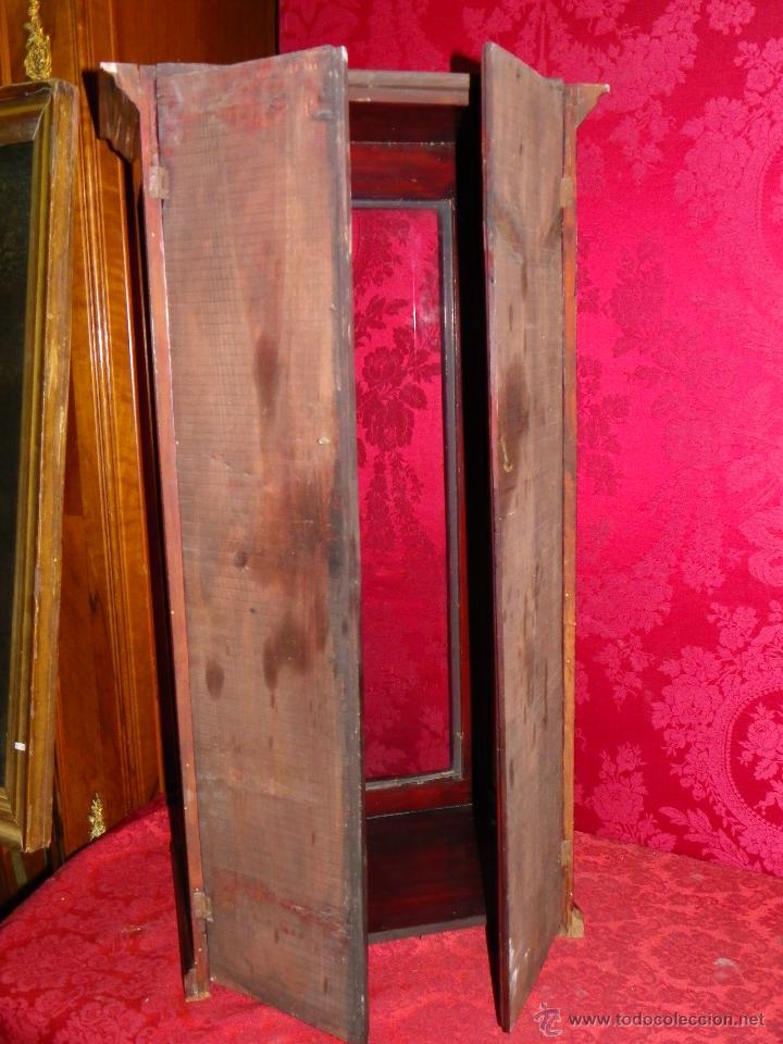 Antigüedades: Vitrina antigua en madera siglo XIX - Foto 12 - 109242926