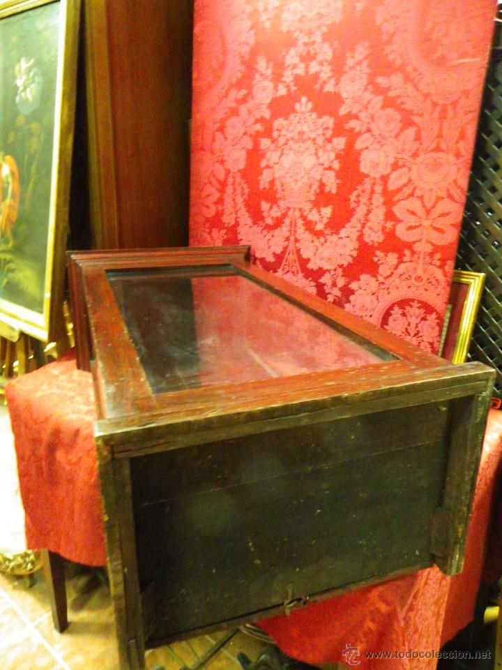 Antigüedades: Vitrina antigua en madera siglo XIX - Foto 13 - 109242926