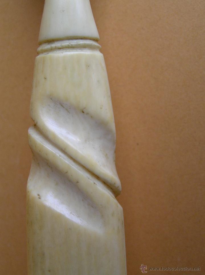 Antigüedades: CUBIERTOS DE SERVICIO O COCTEL .MARFIL TALLADO.SIGLO XVIII. ESPECTACULARES.. - Foto 14 - 47860127