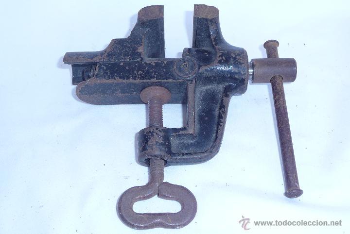 Antigüedades: antiguo tornillo de mesa - Foto 2 - 47868094