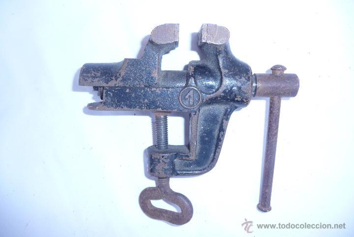 Antigüedades: antiguo tornillo de mesa - Foto 3 - 47868094