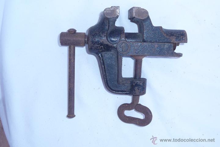 Antigüedades: antiguo tornillo de mesa - Foto 4 - 47868094