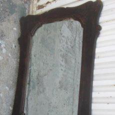 Antigüedades: ESPEJO EN MADERA TALLADA. Lote 47868823