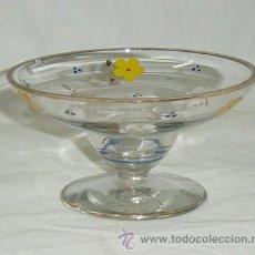 Antigüedades - Copa de cristal, decoración en pintura, mediados del siglo XX - 47872322