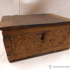 Antigüedades: CAJA DE MADERA CON TARACEA. SIGLO XVII / XVIII.. Lote 47870380