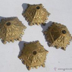 Antigüedades: LOTE DE 4 PLAFONES DE LAMPARAS GOTICAS Y POLICROMADOS PARA TECHO , VERRRRR. Lote 149308622