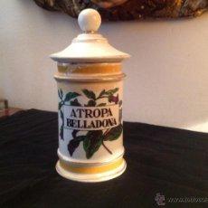Antigüedades: ANTIGÜO ALBARELO DE FARMACIA EN PORCELANA. Lote 47872683