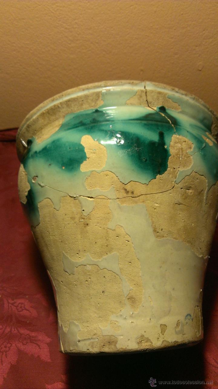 ORZA DE TRIANA. SIGLO XIX FALTAS DE VIDRIADO. (Antigüedades - Porcelanas y Cerámicas - Triana)