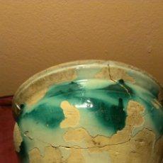 Antigüedades: ORZA DE TRIANA. SIGLO XIX FALTAS DE VIDRIADO. . Lote 47877388