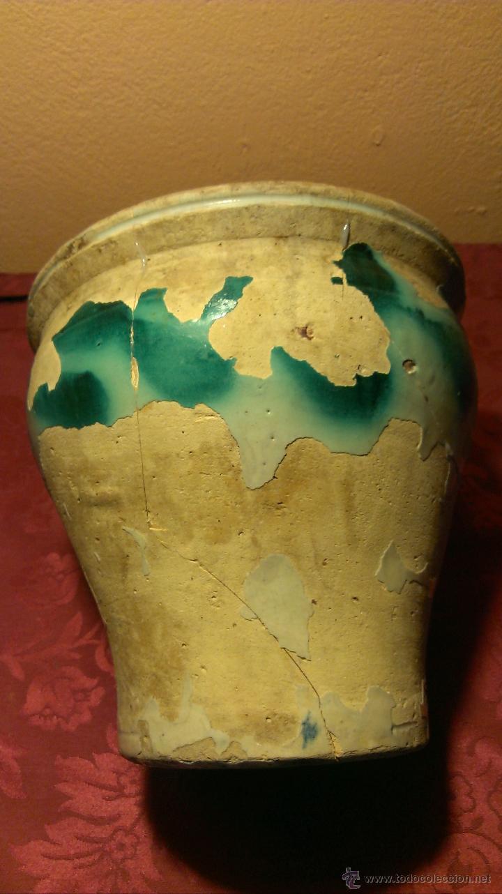 Antigüedades: Orza de TRiana. Siglo XIX faltas de vidriado. - Foto 4 - 47877388
