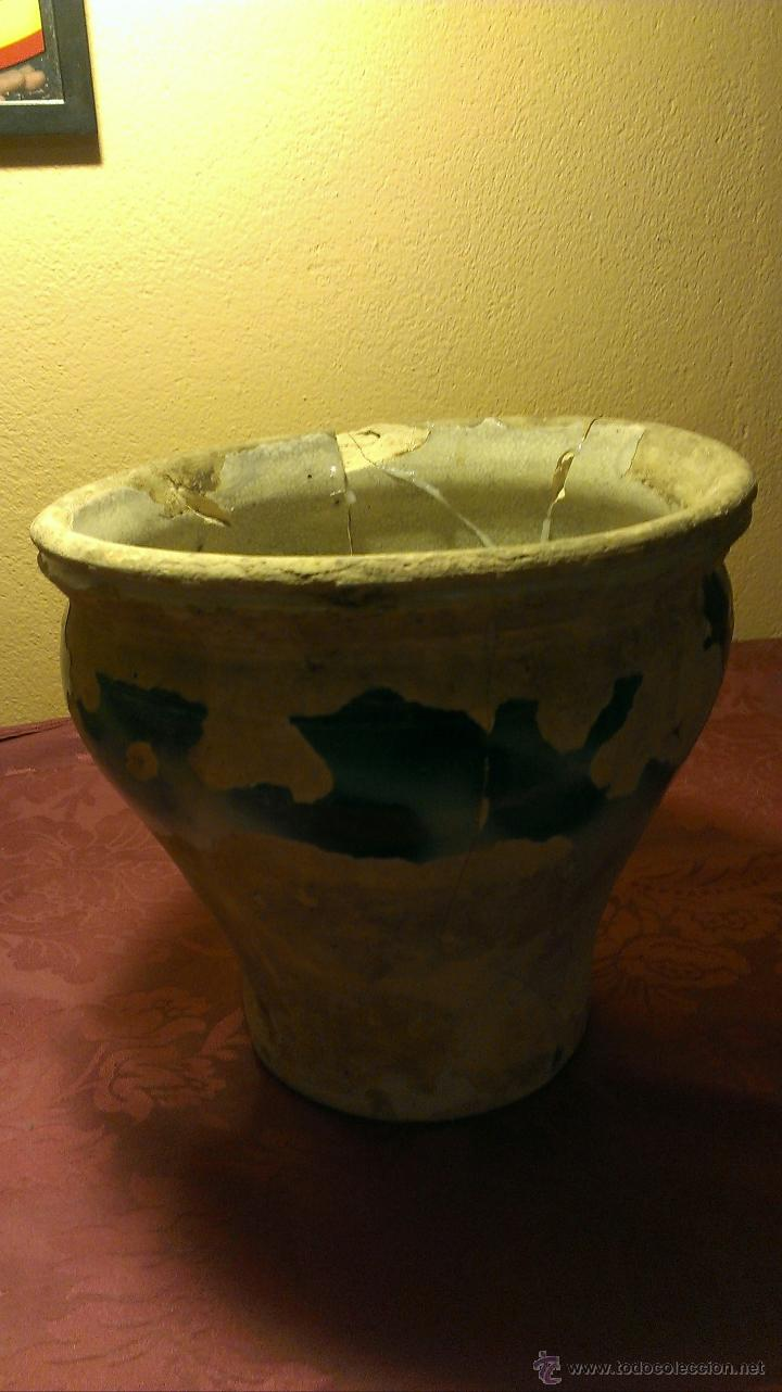 Antigüedades: Orza de TRiana. Siglo XIX faltas de vidriado. - Foto 5 - 47877388