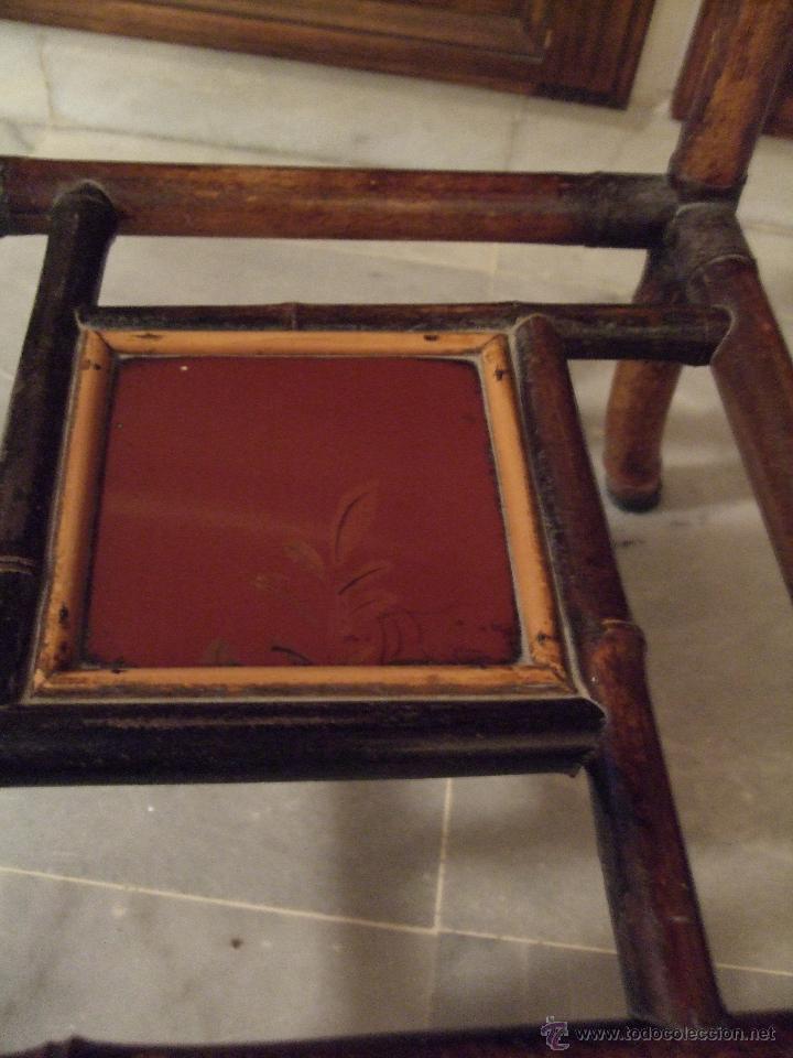Antigüedades: MODERNISTA. MESA VELADOR OCTOGONAL, CAÑA , BAMBU . CONSOLA. ART DECO - Foto 2 - 47883659