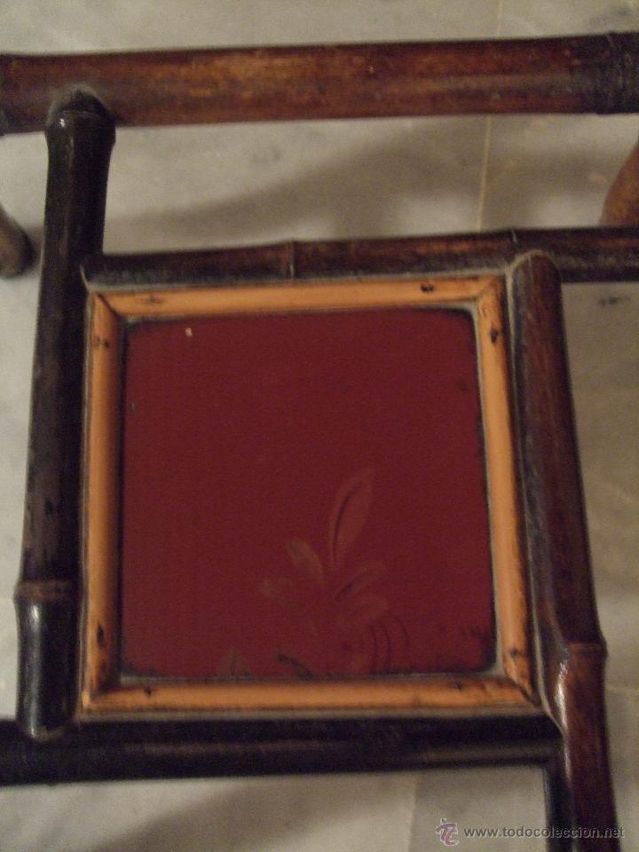 Antigüedades: MODERNISTA. MESA VELADOR OCTOGONAL, CAÑA , BAMBU . CONSOLA. ART DECO - Foto 3 - 47883659