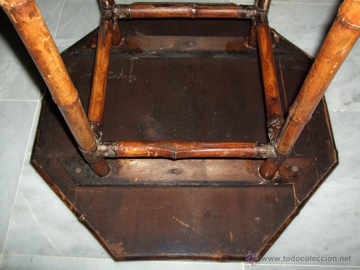 Antigüedades: MODERNISTA. MESA VELADOR OCTOGONAL, CAÑA , BAMBU . CONSOLA. ART DECO - Foto 4 - 47883659