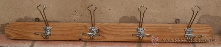 Antigüedades: Percha Perchero de madera y metal, Años 40. - Foto 2 - 47886798