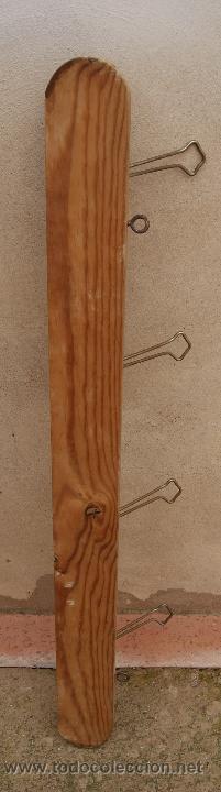 Antigüedades: Percha Perchero de madera y metal, Años 40. - Foto 4 - 47886798