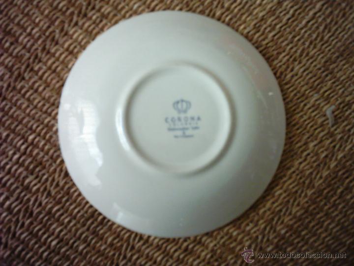 antiguo plato de loza de la marca corona, compa - Kaufen Botijos ...