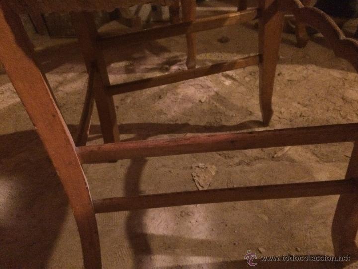 Antigüedades: Antiguas 2 sillas años 40 madera chopo o pino, decoradas - Foto 3 - 47908188