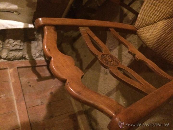 Antigüedades: Antiguas 2 sillas años 40 madera chopo o pino, decoradas - Foto 6 - 47908188