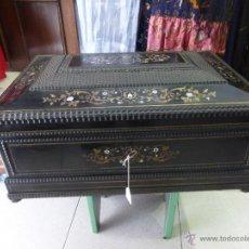Antigüedades: ANTIGUA CAJA PARA PAÑUELOS BOULLE -FRANCESA-IMPERIO-S. XVIII-CON CORONA IMPERIAL-NAPOLEÓN BONAPARTE. Lote 47909859