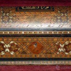 Antigüedades: INTERESANTE COFRE EN TARACEA DE PRINCIPIOS DEL SIGLO XX. Lote 47923331