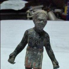 Antigüedades: FIGURA DE BOXEADOR ANTIGUA DE HOMBRE DE COLOR SIGLO XIX APROX. Lote 47940637