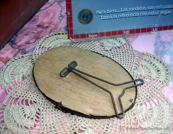 Antigüedades: HERMOSO MARCO PORTAFOTOS FRANCES OVALADO LATON AÑO 30 12CM - Foto 3 - 47945597