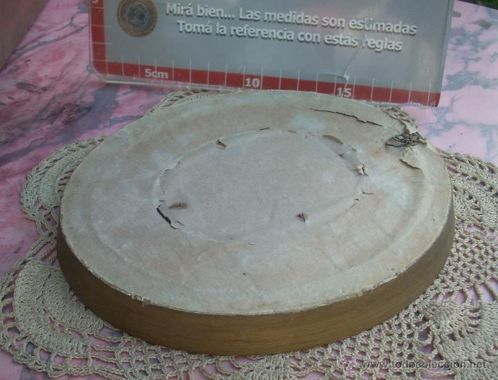 Antigüedades: HERMOSO MARCO PORTAFOTOS FRANCES OVALADO DORADO A LA HOJA AÑO 40 16CM VIDRIO CURVO - Foto 3 - 47945692