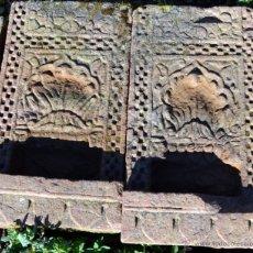 Antigüedades: PAREJA DE MENSULAS DE PARED EN PIEDRA.. Lote 47949391