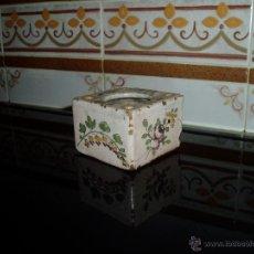 Antigüedades: TINTERO DE ALCORA. Lote 47950275